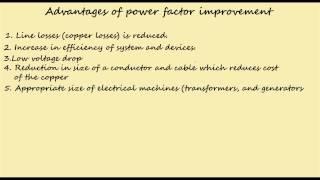 advantage of power factor improvement