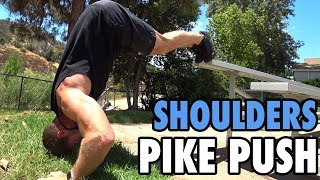 How to Perform the Pike Push   Bodyweight Shoulders Exercise Tutorial