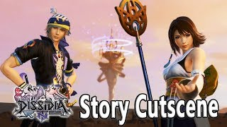 Yuna, Rinoa, & Locke/Kam'lanaut, & Golbez Story Cutscene - Dissidia Final Fantasy NT (DFFAC/DFFNT)
