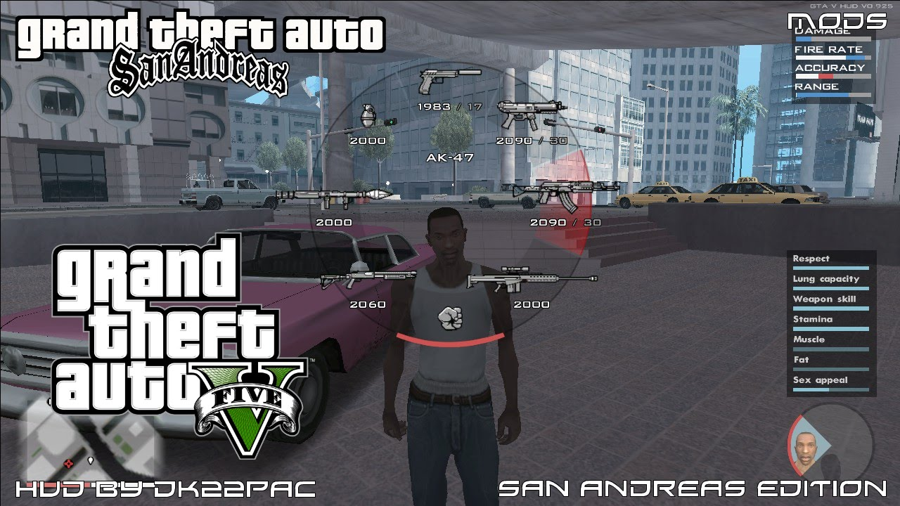 Gta San Andreas Gta V Hud By Dk22pac San Andreas Edition