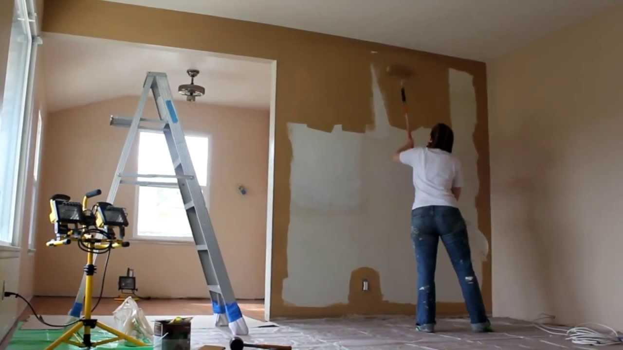 Painting The Living Room Painting The Living Room Time Lapse Youtube