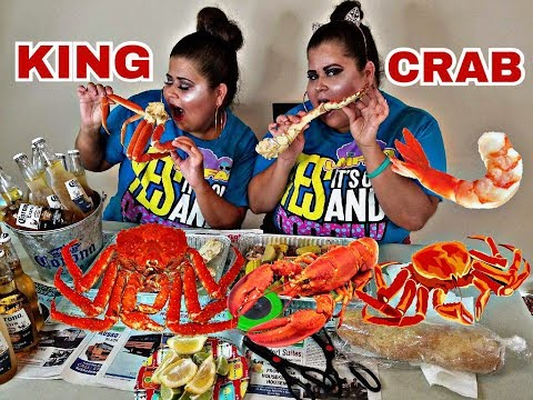 ⚠️🦀 SEAFOOD BOIL MUKBANG | KING CRAB | LOBSTER TAIL | TIGER SHRIMP | ALASKAN RED KING CRAB MUKBANG