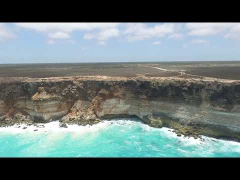 Great Australian Bight/Nullarbor Plain drone footage, 2017.