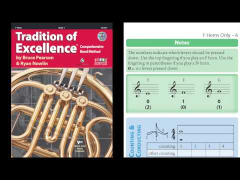 W61HF Tradition of Excellence F Horn Book 1