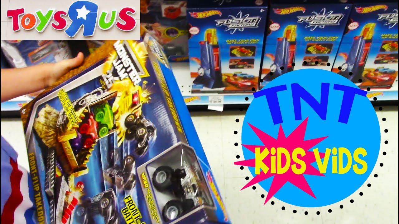Toys R Us HOT WHEELS Monster Jam Cars 3 Build A Bear Shopping Trip ...