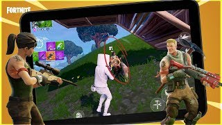Fortnite Mobile - BIGGEST BOT LOBBY in MOBILE HISTORY