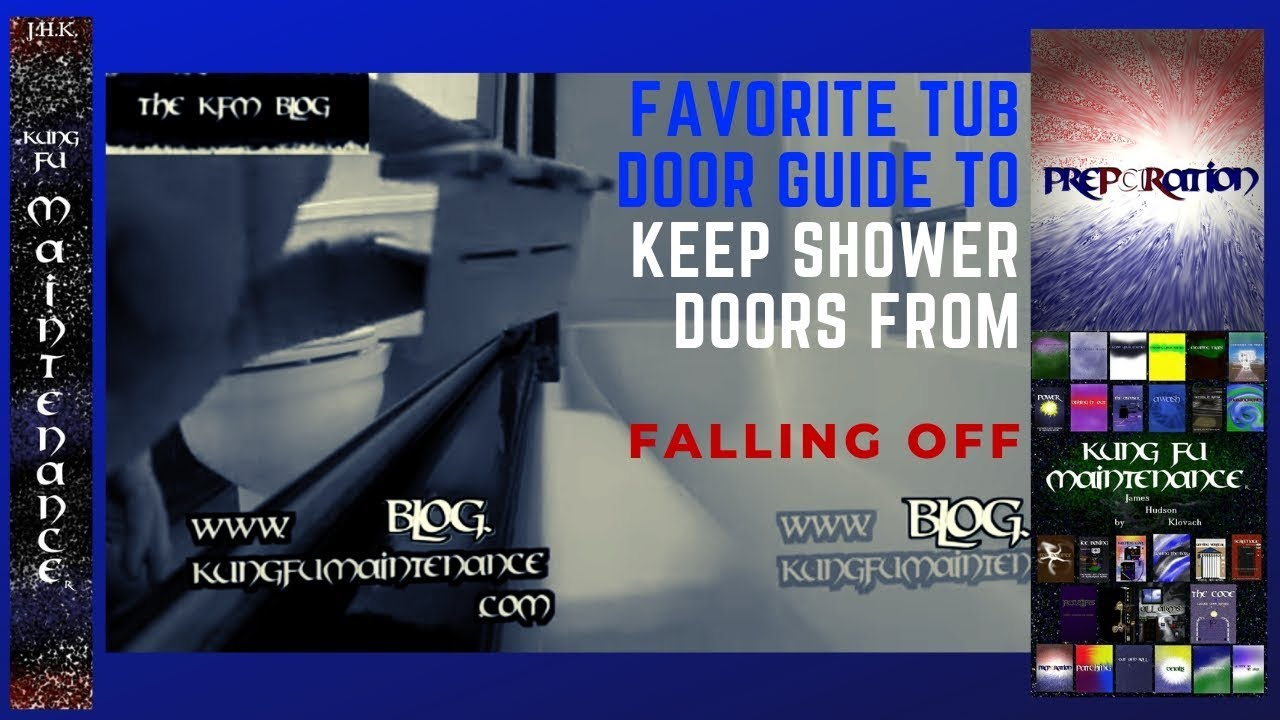 How to replace shower door bottom guide - Tub Shower Door Guides Favorite To Keep Sliders From Falling Off Track Kung Fu Maintenance Video