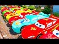 Lightning McQueen in TRAIN TROUBLE | Spiderman saves Cars from Trouble Cartoon for Children