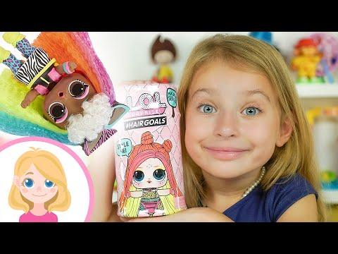 Маленькая Вера - Распаковка волшебная игрушка сюрприз Лол Хейрголз - HairGoals