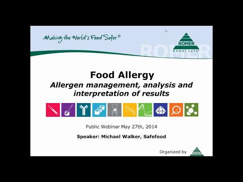 Food Allergy - Allergen management, analysis and interpretation of results