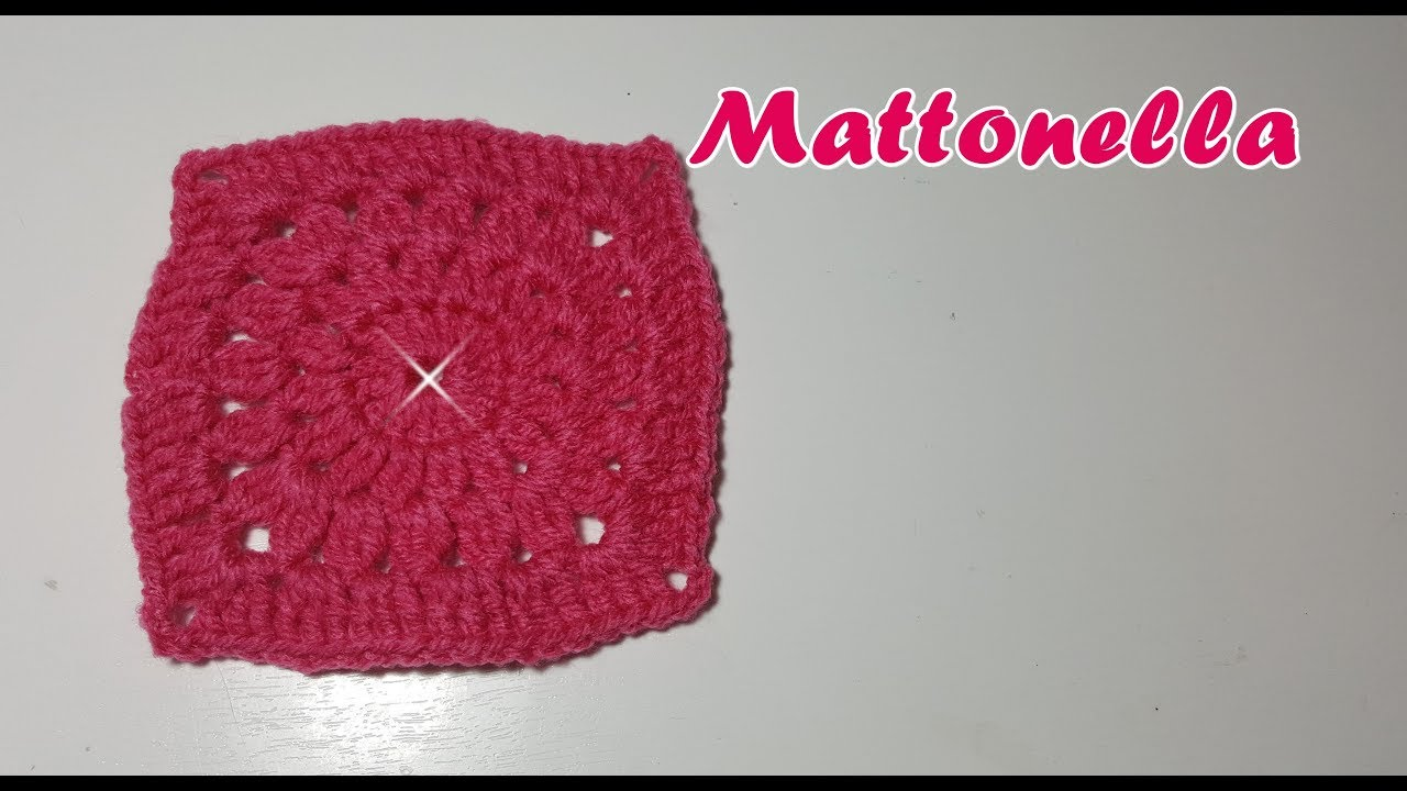 Mattonella All Uncinetto Quadrato Mattonella Per Coperta Tutorial Passopasso Crochet Square Youtube