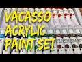 Vacasso Acrylic Paint Set (24 colors x 12ml) Unboxing