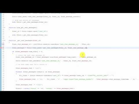 Part 5 - Codeigniter Tutorial - Creating A Web Chat App using JQuery AJAX