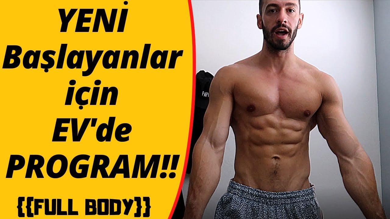 YENİ BAŞLAYANLARA ÖZEL FULL BODY EV PROGRAMI !!