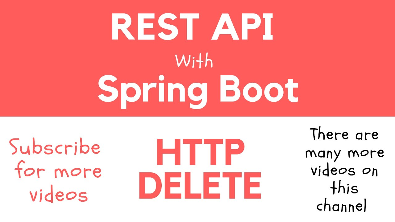 REST API with Spring Boot - @DeleteMapping  Handle HTTP DELETE Request and  Return a Response