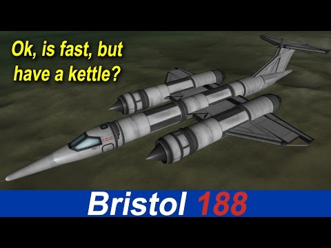 "KSP Bristol 188 ""Flaming Pencil"", experimental plane, STOCK"