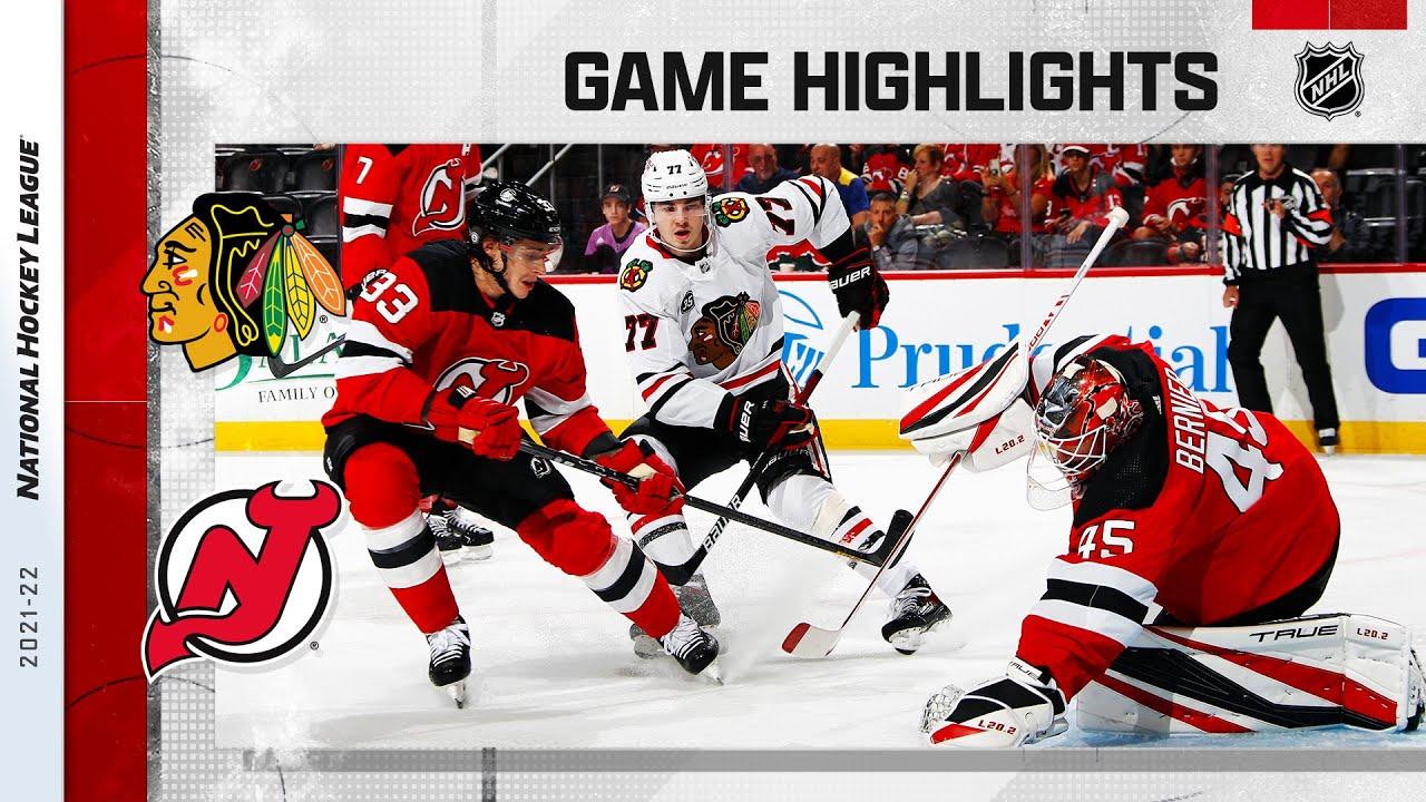 Download Blackhawks @ Devils 10/15/21 | NHL Highlights