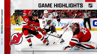 Blackhawks @ Devils 10/15/21 | NHL Highlights
