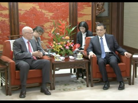 Chinese Premier Discusses Financial, Urbanization Issues With Former U.S. Secretary of Treasury