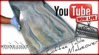 How to Epoxy a Coffee Table Live