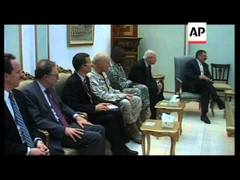 US Defence Secretary Panetta meets Talabani and Maliki