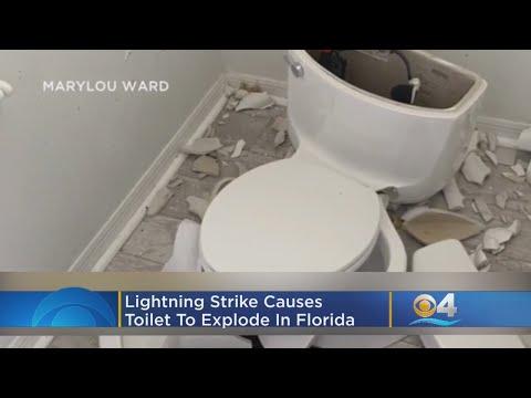 Jodi Stewart - Toilet in Florida Home Explodes When Hit By Lightning
