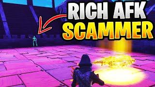 Going AFK While Trading A RICH Scammer! (Scammer Gets Scammed) Fortnite Save The World