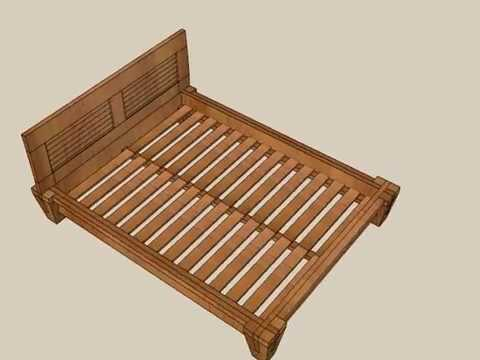 traditional japanese bed tatami sketchup - Japanese Bed Frame