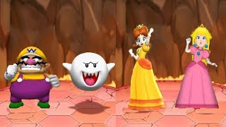 Mario Party 6 - 4 Playser Mini Games - Boo Wario Vs Daisy Peach All Funny Minigames (Master Cpu)