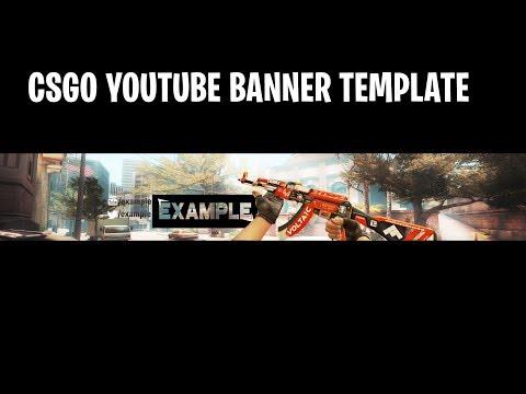 CS:GO Youtube Banner Speed Art (Template Free Use)