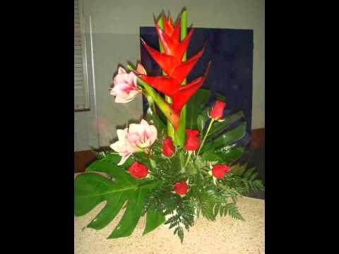 Flores mayca malpica centros e youtube - Hacer un centro de flores ...