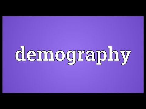Demography Meaning