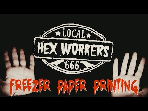 Hex Worker Shirt DIY: Printing with Freezer Paper! Free Design!