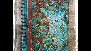 Mixed Media Journal Cover Tutorial Organic Matter