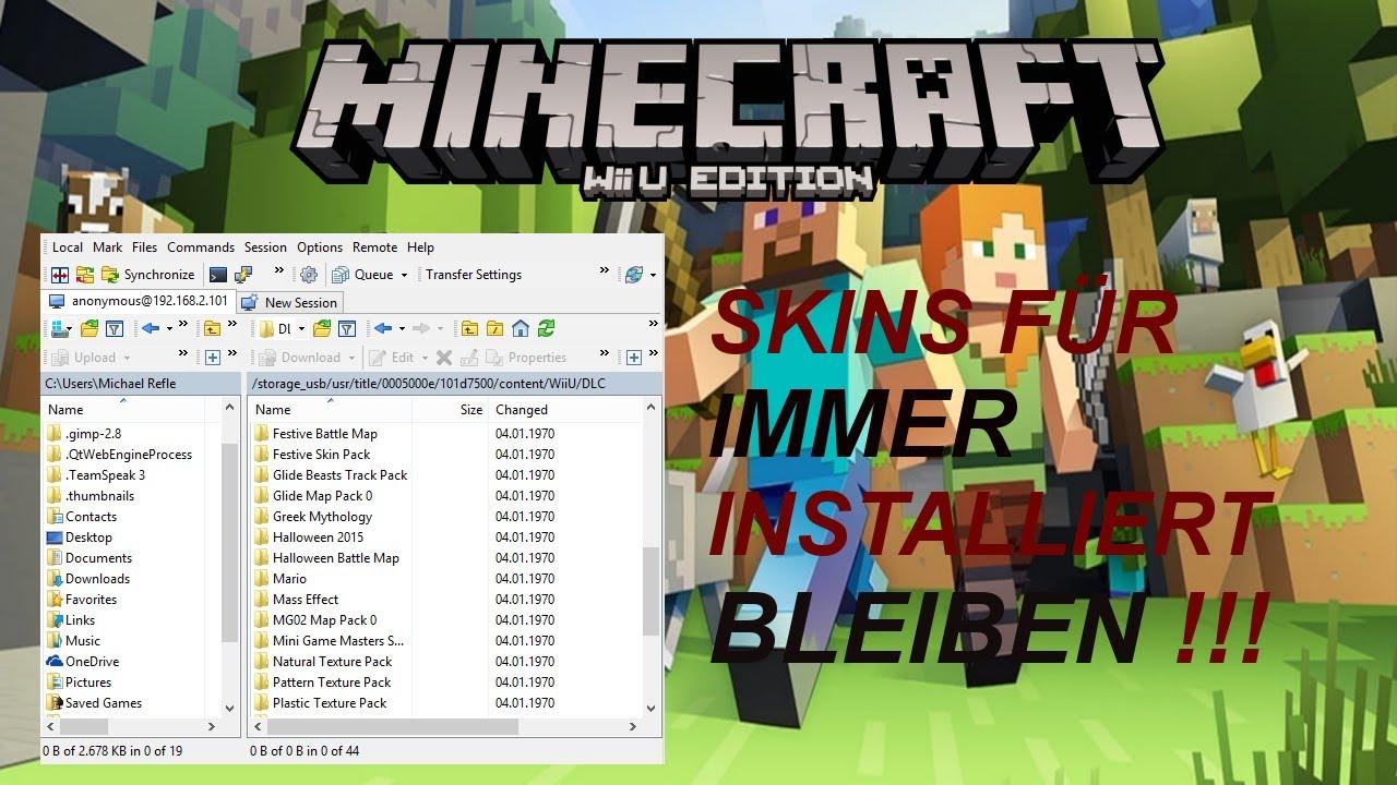 Gratis Skins Installieren Bessere Version Minecraft Wii U Edition - Wie installiert man skins fur minecraft