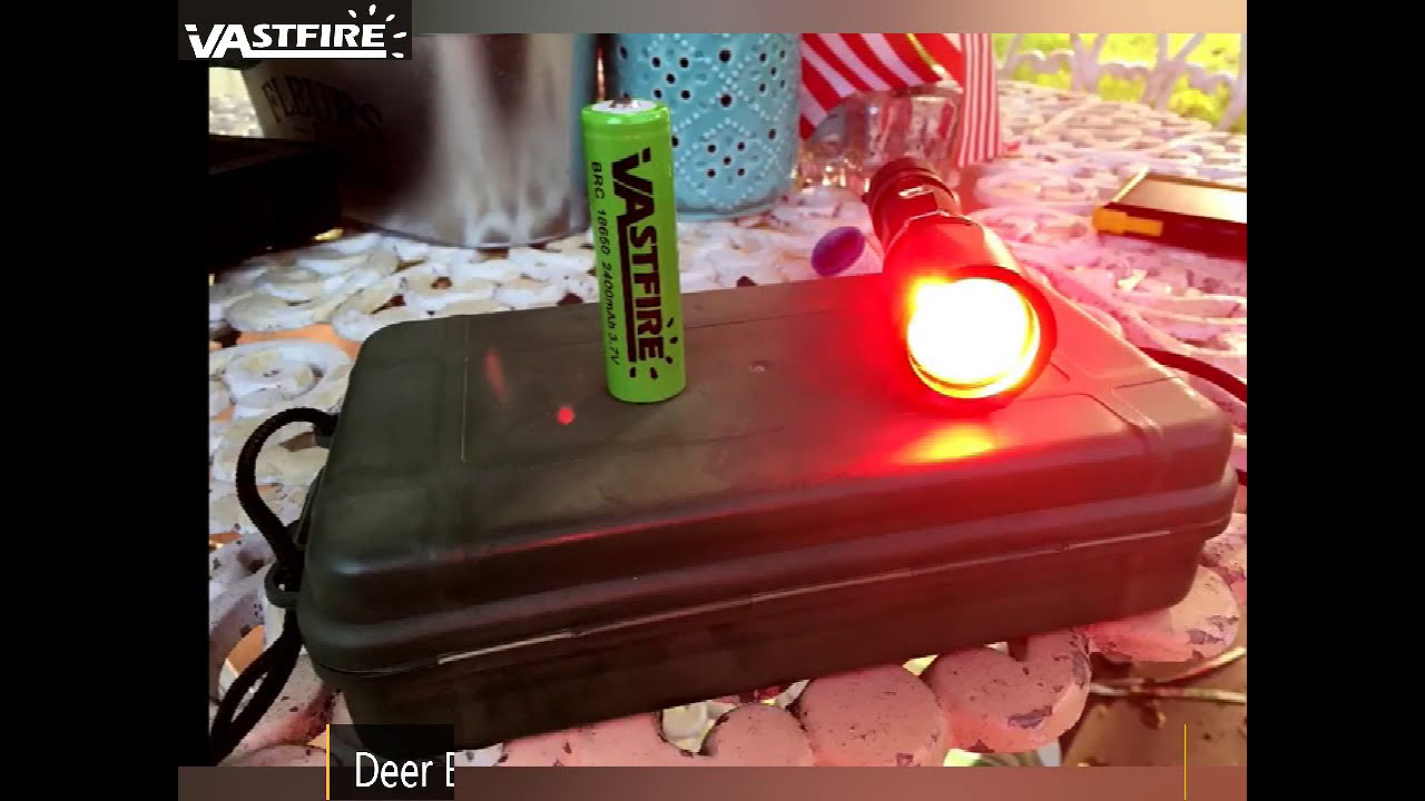 #VASTFIRE Zoomable Green/Red/UV Hunting Flashlight Deer Blood Tracker Light Night Vision Flashlight