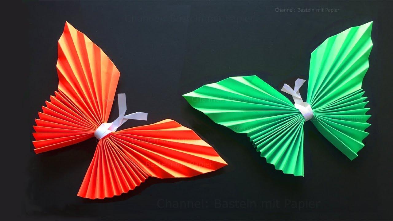 Origami Schmetterling Basteln Mit Papier Origami Tiere Falten Diy Wanddeko Bastelideen Geschenk