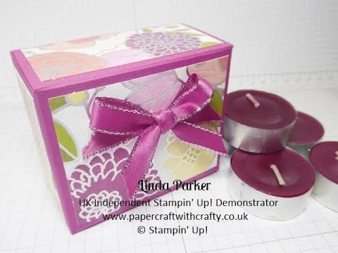 Gift Box for 8 Scented Tealights in Sweet Soiree DSP