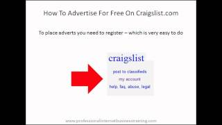 How To Advertise For Free On Craigslist.com