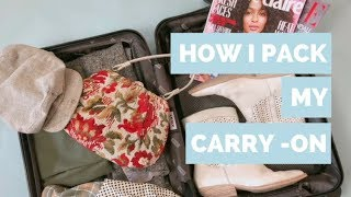 HOW I PACK MY CARRY-ON FOR A WEEK IN THE SOUTH//AWAY