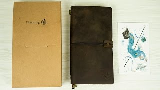 Wanderings Leather Journal Unbox and Comparison to Midori