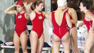 women's waterpolo team warm up 2