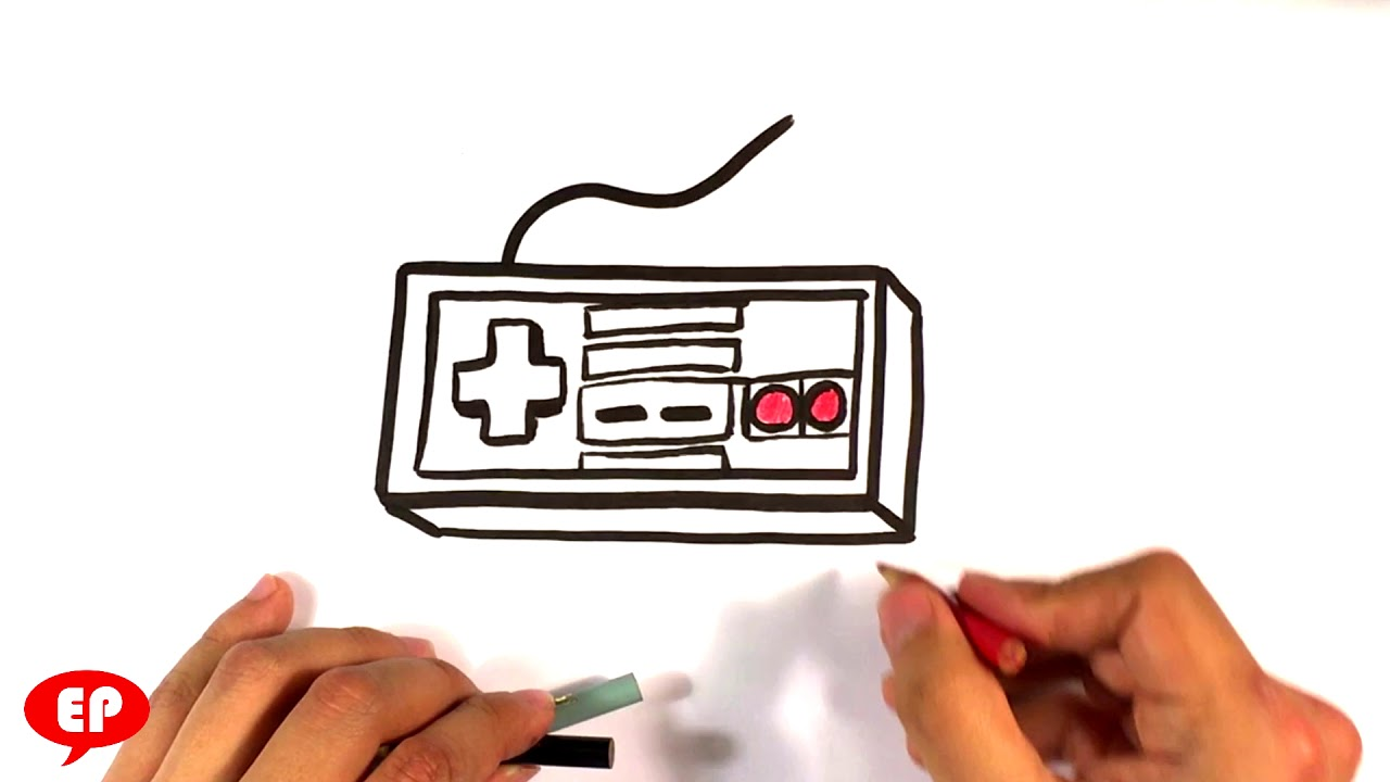 How To Draw A Nintendo Controller Cartoon Easy Pictures To Draw Youtube