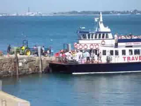 Travel Trident ferry arrives & leaves Herm Harbour