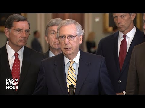 WATCH: Senate Republican leaders hold news conference following party policy luncheon