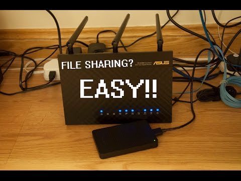 Asus RT-AC68U Virtual NAS+DDNS (File Sharing) Setup