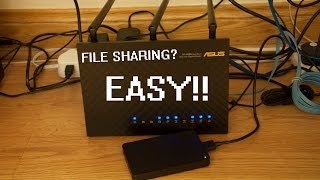 asus rt ac68u virtual nas ddns file sharing setup