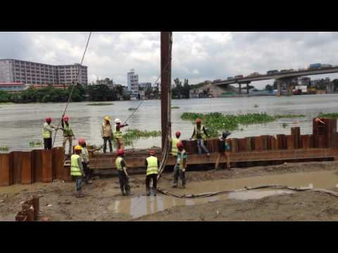 Procedure of sheet Pile Drive