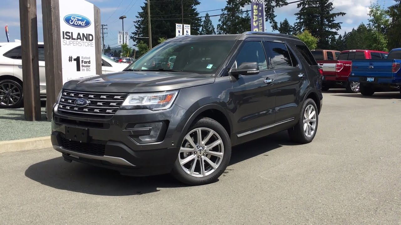 Ford Explorer Limited >> 2017 Ford Explorer Limited Awd Trailer Tow Dual Panel Moonroof