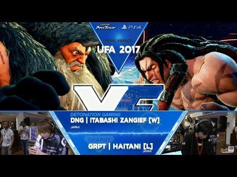 SFV: DNG Itabashi Zangief vs GRPT Haitani - UFA 2017 Grand Final - CPT 2017
